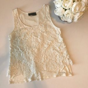 Sunday in Brooklyn white Lace Blouse